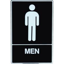 """Plastic Braille """"Men"""" Sign"""
