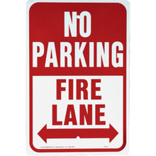 "Aluminum ""No Parking Fire Lane Sign"""
