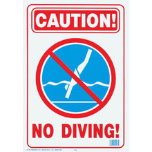 "Pool/Spa Safety Sign ""Caution! No Diving!"""