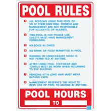 "Pool/Spa Safety Sign ""Pool Rules"""