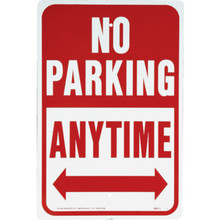 "Aluminum ""No Parking Anytime"" Sign"