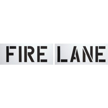 """Fire Lane"" Parking Lot Stencil"