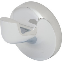 Aspen Single Robe Hook Chrome Finish
