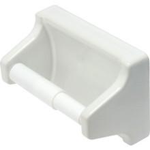 Lenape One-Piece White Plastic Toilet Paper Holder Concealed Mount