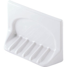 White Porcelain Soap Holder Tile-in Mount