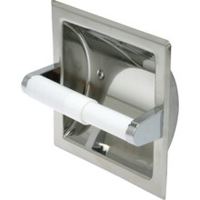 Bright Polished Stainless Steel Toilet Paper Dispenser Recessed