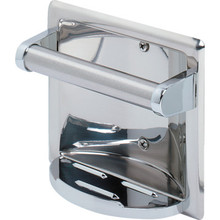 Polished Stainless Steel Recessed Soap Holder