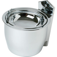 Surface Mount Ash Urn Satin Chrome