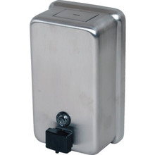 Bobrick Soap Dispenser Vertical Mount Tall Stainless Steel