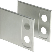Oval Shower Bar Cover Plate Satin Nickel 2Pk
