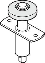 "1-3/4"" - 3/4"" Diameter Wardrobe Bi-Fold Top Guide Metal Base, Package of 2"