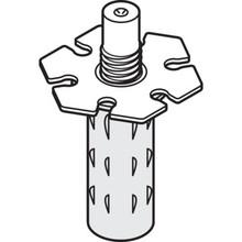 "2-5/8"" - 7/16"" Diameter Wardrobe Bi-Fold Bottom Pivot Nylon Base, Package of 2"