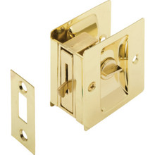 Chrome Pocket Door Privacy Lock and Pull