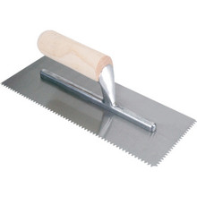 QEP 4-1/2 in. Traditional Wall Trowel with Large Wooden Handle, Model 49716Q