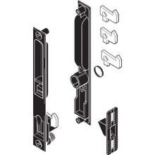 Flush Sliding Glass Door Handle Black