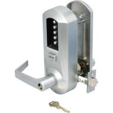 KABA Heavy Duty Mechanical Push-Button Lever Lockset Satin Chrome