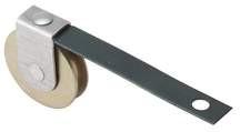 "Sliding Screen Door Roller 1"" Diameter Steel Ball Bearing Wheel 2-1/2""L, Pkg of"