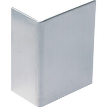 "Door Edge Guard 1/2"" x 1-3/16"" Satin Chrome, Package of 5"