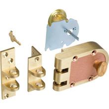 Segal Single Cylinder Vertical Deadbolt Brass