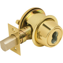 Falcon Interchangeable Core Single Cylinder Deadbolt Brass