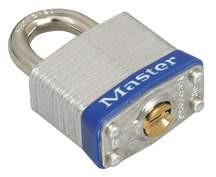 "Master Lock 1-9/16"" #3 Universal Pinned Steel Laminated Padlock 1-1/2"" Shackle"