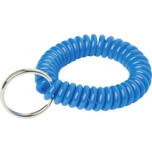 Blue Wrist Coil Key Ring , Package of 5