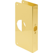 "Entry Lockset Door Repair Cover Brass, 2-3/8"" Backset, 1-3/8"" Door Thickness"