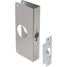 "Entry Lockset Door Repair Cover Steel, 2-3/8"" Backset, 1-3/4"" Door Thickness"