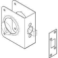 """Entry/Deadbolt Door Repair Cover Steel, 2-3/8"""" Backset, 1-3/4"""" Door Thickness"""