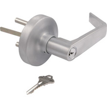 Shield Security Entry Lever Satin Chrome