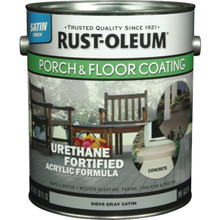1 Gallon Rust-Oleum Urethane Satin Porch And Floor Coating - Pewter