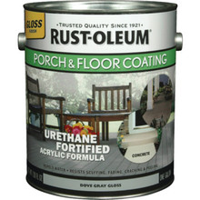 1 Gallon Rust-Oleum Urethane Gloss Porch And Floor Coating - Pewter