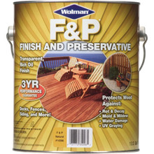 1 Gallon Wolman Wood Finish And Preservative - Natural Finish