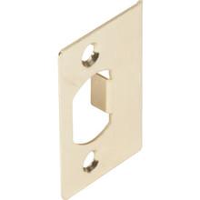 Door Lockset Strike Plate Brass, Package of 2