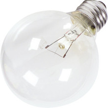 25 Bulb Value Light 25W Medium Base Clear 130V 12pk