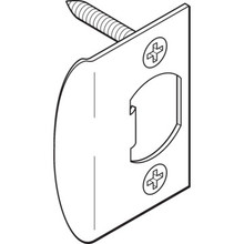 Door Lockset Strike Plate Steel, Package of 2