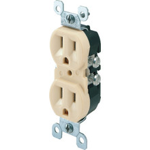 15 Amp CO/ALR Duplex Receptacle - Ivory - Package of 10