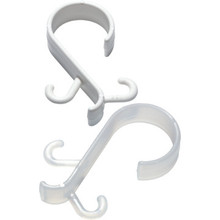 White Deluxe Shower Curtain Hook Package Of 144
