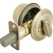 Kwikset Single Cylinder Deadbolt Grade 3 Antique Brass
