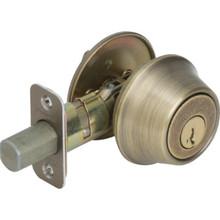Kwikset Single Cylinder Deadbolt With SmartKey ANSI Grade 3 Antique Brass