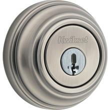 Kwikset Heavy Duty Single Cylinder Deadbolt Satin Nickel