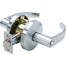 Falcon Quantum Cylindrical Privacy Lever Satin Chrome
