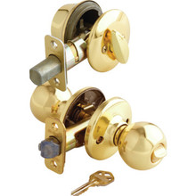 Kwikset Polo Entry/Deadbolt Combo Brass
