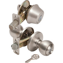 Kwikset Polo Entry/Deadbolt Combo Satin Nickel