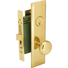 Mortise Lockset w/ Single Cylinder Deadbolt-Left Hand Brass