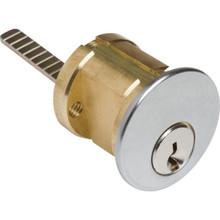 Rim Cylinder SC1 Keyed Alike Satin Chrome, Package of 2