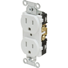 15 Amp Commercial Grade Duplex Receptacle - Ivory