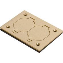 Rectangular Floor Box Cover with Lift Lids - Brass