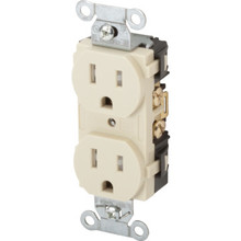 15 Amp Commercial Grade Duplex Receptacle - Tamper Reistant - White