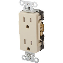 15 Amp Commercial Grade Decora Receptacle - Ivory